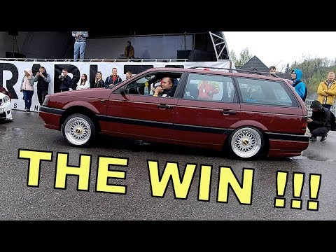 """VW PASSAT b3 """"ПОРВАЛ"""" ВСЕХ В КОНКУРСЕ НА ЛУЧШУЮ ПНЕВМО-ПОДВЕСКУ. АВТО-ФЕСТИВАЛЬ GRABLEE 2019.."""
