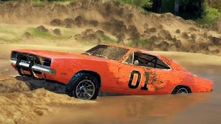 getlinkyoutube.com-GENERAL LEE CHARGER! Off-Road Test! Mudding & Hill Climbing! (SpinTires)