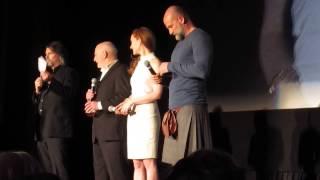 getlinkyoutube.com-Sam Heughan Caitriona Balfe Tobias Menzies & cast intro 9p NYC Outlander Screening 4/1/15