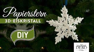getlinkyoutube.com-Sterne basteln: 3D Eiskristall-Weihnachtsstern - How-to | Deko Kitchen