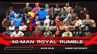 40 Man Royal Rumble Green vs Blue WWE2K14