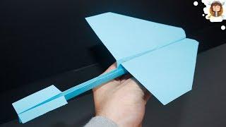 getlinkyoutube.com-Como fazer um avião de papel que voa muito longe