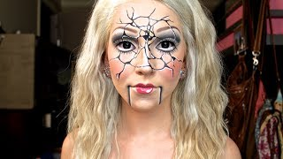 "getlinkyoutube.com-""Shattered Ventriloquist Doll"" Halloween Tutorial ♡"