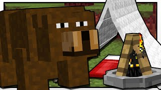 getlinkyoutube.com-Minecraft | CAMPING BEAR ATTACK!! | Custom Mod Adventure