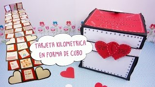 getlinkyoutube.com-Tarjeta Kilometrica en Forma de Cubo -San Valentín-