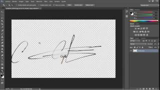 getlinkyoutube.com-Como digitalizar una firma con fondo transparente en photoshop