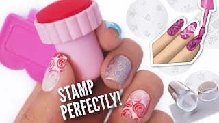 getlinkyoutube.com-Stamp Your Nails Perfectly!    DIY, Hacks, Tips & Tricks For Nail Art Stamping!
