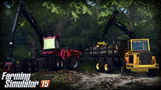 getlinkyoutube.com-Farming Simulator 15 - Gameplay #14 Komatsu 941 & Volvo BM Forwarder
