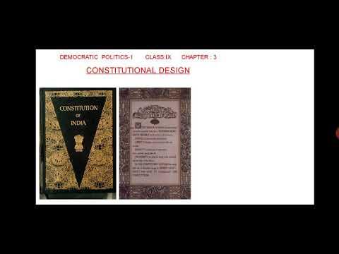 Class 9, Democratic Poltics, Constitutional Design