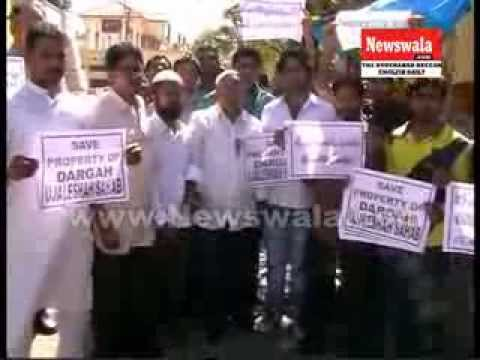 CPM staged dharna for the protection of Wakf Properties at Malakpet