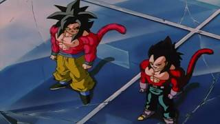 getlinkyoutube.com-DragonBall GT - Goku & Vegeta Fuse ~ Gogeta SSJ4 (Remastered 720p HD) [Original]