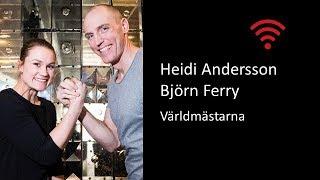 UPPKOPPLAD - Världsmästarna Heidi Andersson och Björn Ferry
