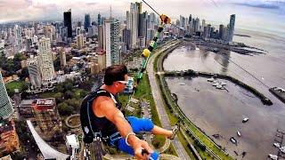 getlinkyoutube.com-World's Largest Urban Zipline