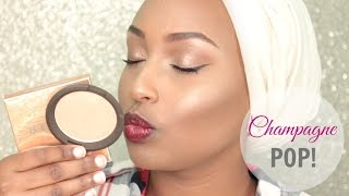 getlinkyoutube.com-BECCA X Jaclyn Hill Shimmering Skin Perfector Champagne Pop  | Review & Demo on Dark Skin ♡