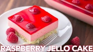 getlinkyoutube.com-Dessert: Raspberry Jello Cake Recipe - Natashas Kitchen