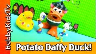 getlinkyoutube.com-Mr. Potato Head Duck! Funny Dance + Rubber Duck Painting Pool Swim by HobbyKidsTV