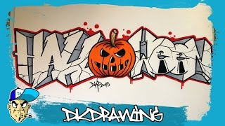 How to draw graffiti letters halloween (Halloween Special) #3