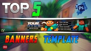 getlinkyoutube.com-TOP 5│Youtube Channel Banner Template [Photoshop] Download + Free