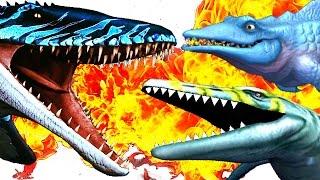 getlinkyoutube.com-MOSASAURUS - Jurassic World vs Park vs Hungry Shark Evo