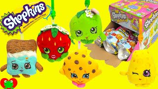 getlinkyoutube.com-Shopkins Plush Hangers in Blind Bags Full Set with Kooky Cookie and More