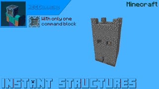 getlinkyoutube.com-Minecraft - Instant structures WITH ONLY 1 COMMAND BLOCK [★★★★✩]