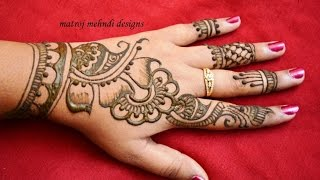 getlinkyoutube.com-stylish simple mehndi henna designs for hands for beginners:mehndi designs for hands