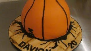 getlinkyoutube.com-Basketball through the floor boards cake