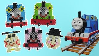 """How to make a Thomas and Friends """"PERLER BEADS"""" Thomas.Percy.Rosie.Harold.Sir Topham Hatt"""