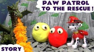 getlinkyoutube.com-Paw Patrol Thomas and Friends Play Doh Dragon Rescue | Minions Peppa Pig Batman Frozen