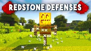 getlinkyoutube.com-Top 10 Redstone Defenses In Minecraft!