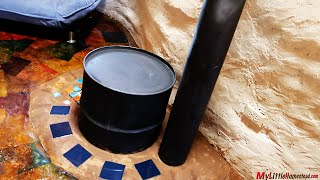 getlinkyoutube.com-Our Earth Bag Construction with Rocket Stove Mass Heater, Paperbag Floor & Pallet Ceiling