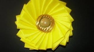 getlinkyoutube.com-Flores lindas y faciles para el cabello en cinta paso a paso,#057Manualidadeslahormiga