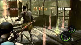 getlinkyoutube.com-Village : 902,453 Duo Jill BSAA & Wesker Midnight - Resident Evil 5 Mercenaries
