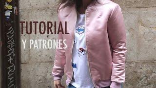 getlinkyoutube.com-DIY Costura: Como hacer chaqueta bomber para mujer (patrones gratis)