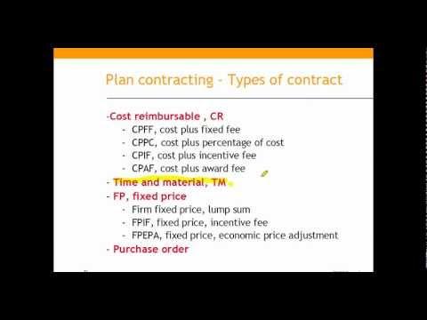 PMdistilled PMBOK Module# Procurement Management Planning