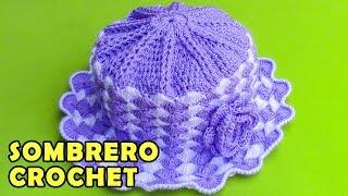 Sombrero tejido a crochet para bebé de 1 año y medio a 2 años