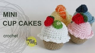 getlinkyoutube.com-Tutorial Mini Cupcakes Amigurumi Crochet o Ganchillo