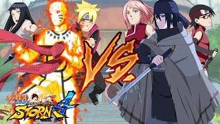 getlinkyoutube.com-Naruto Shippuden Ultimate Ninja Storm 4 - Naruto Family vs Sasuke Family