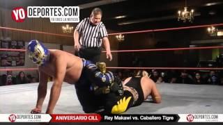 Rey Makawi vs. Caballero Tigre unificación de títulos CILL 2016