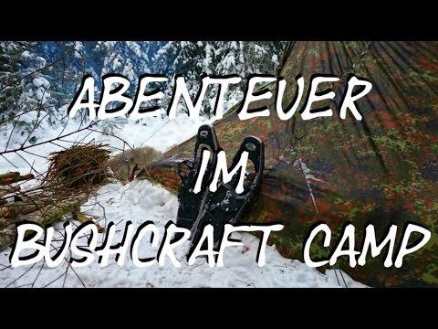 Abenteuer im Winter Waldläufer Lager. 4 Tage. Nachts - 12°C. Lagerbau, Natur, Essen kochen [Preview]