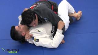 getlinkyoutube.com-JiuJitsuMania Jean Jacques Machado Loop Choke from Half Guard