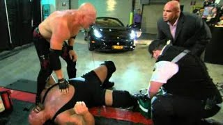 getlinkyoutube.com-Raw: Big Show's leg is crushed beneath Alberto Del Rio's car