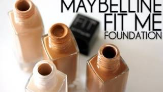 getlinkyoutube.com-How To Use Maybelline Fit Me Foundation Tutorial /How To Apply