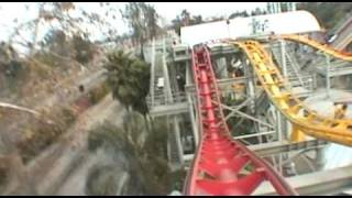 getlinkyoutube.com-Windjammer Roller Coaster Front Seat POV Knott's Berry Farm California