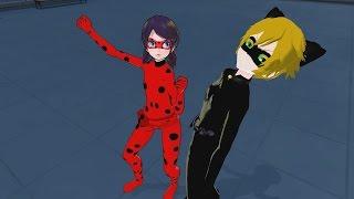 "getlinkyoutube.com-MMD ""Poka Poka"" - Multiple Anime, Animation, Game etc. Characters - funny meme compilation"