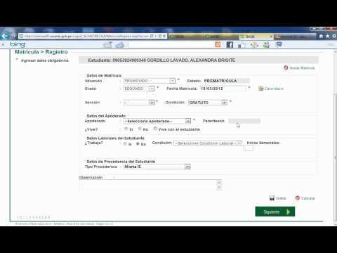 SIAGIE 3.1.2 RATIFICAR MATRICULA DE ESTUDIANTE 2012