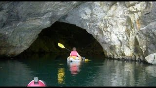 getlinkyoutube.com-Exploring An Abandoned Feldspar Mine by kayak
