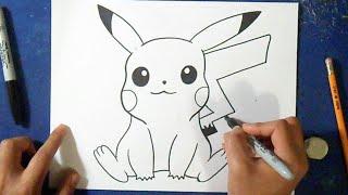 getlinkyoutube.com-Como desenhar o Pikachu 4