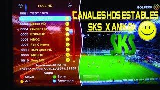 CANALES HD SD EN AMAZONAS SKS SATELITE ANIK G1 ESTABLES.