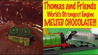 getlinkyoutube.com-Thomas and Friends World's Strongest Engine - Losing Train falls into Melted Chocolate!